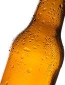 Garrafa de cerveja com água-gota — Fotografia Stock