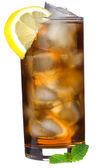 Ice tea with lemon and mint — Стоковое фото