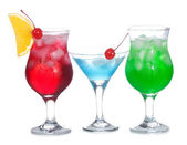 Cocktails with fruits — Stock Photo