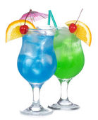 Cocktail blu e verde — Foto Stock