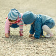 Children playing with the stones — Stock Photo #2762628