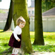 Little toddler girl playing on the park — Stock Photo