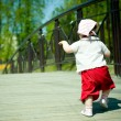Stock Photo: Little girl walks
