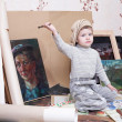 Child paints — Stock Photo