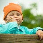 Little serious child — Stock Photo