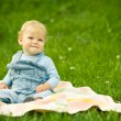 Funny child in park — Stock Photo