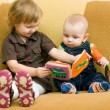 Boy and girl with book — Stock Photo #2764184