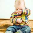 Stock Photo: Little child want to sleep