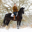 Girl riding horse — Stock Photo #2784048