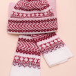Woolens tuque and comforter - Stock Photo