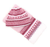 Woolens tuque and comforter on white — Stock Photo