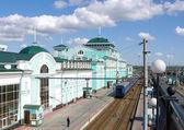 Railway station.Omsk.Russia. — Foto de Stock