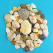Stock Photo: Seshells and stones