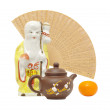 Oriental still life.focus on teapot — Stock Photo