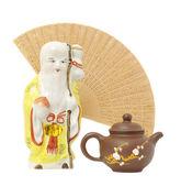 Oriental composition.focus on teapot — Stock Photo