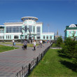 Stock Photo: Suburbrailway station.Omsk.Russia.