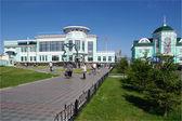 Suburban railway station.Omsk.Russia. — Stock Photo