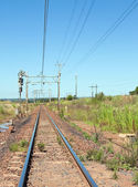 農村地帯の鉄道 — ストック写真