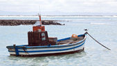 Colourful traditional fishing boats in harbour — Стоковое фото