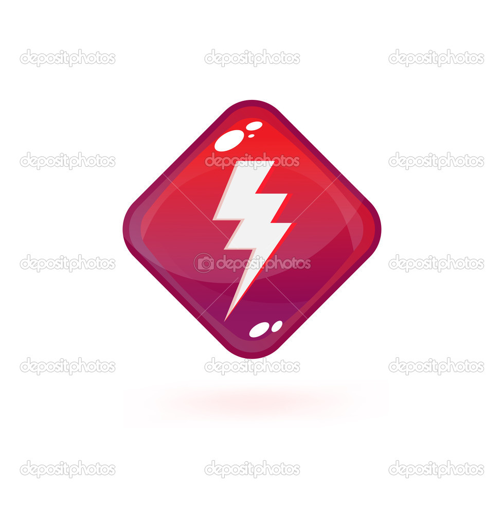 Button with lighting symbol — Stock Vector #2969807