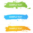 Grungy colored banners — Stock Vector