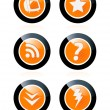 Web buttons — Stock Vector #3160734