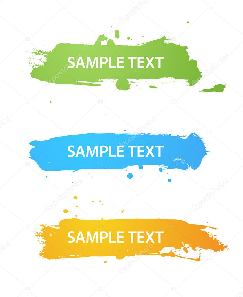 Set of grungy colored banners — Stock Vector #3160732