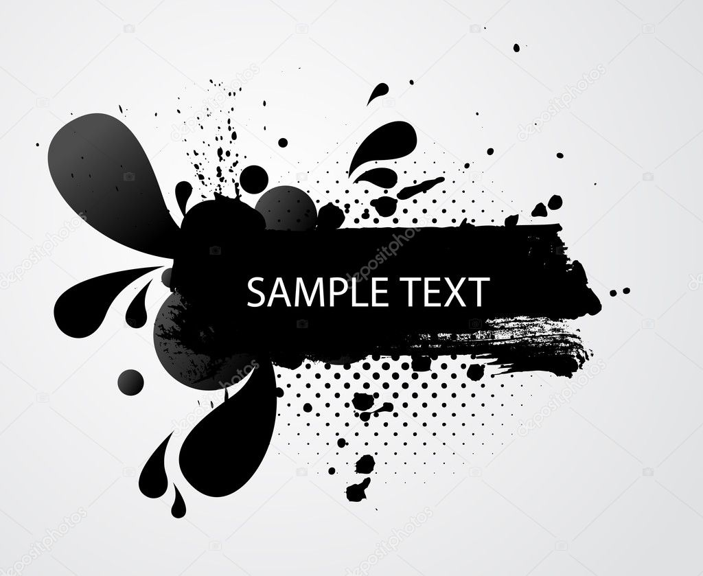 Grungy banner with sample text — Stock Vector #3453191