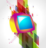 Television on abstract background — Stock Vector