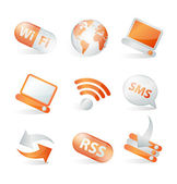Communication web icons — Stock Vector