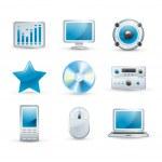 Electronics icon set — Stock Vector