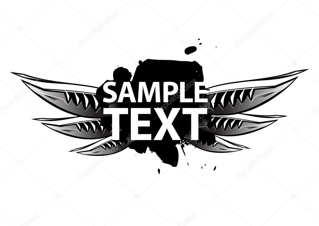 Flying banner with sample text — Stock Vector #3777594