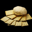 Bread and crackers — Stock Photo