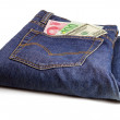 Stock Photo: Bluejeans and money