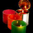 Candle on a tin can — Stockfoto