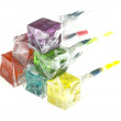 Colorfull dice lollipops — Stock Photo