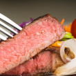 Stock Photo: Beef ribeye steak