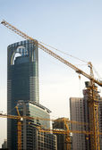 Shanghai construction crane — Stock Photo