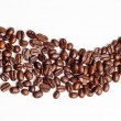 Stock Photo: Cofee beans road