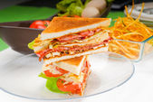 Doppeltes sandwich — Stockfoto