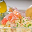 Parma ham and potato salad - Stock Photo