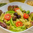 Italian fusilli pasta salad — Stock Photo #3689114