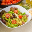 Italian fusilli pasta salad — Stock Photo #3689240