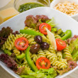 Italian fusilli pasta salad — Stock Photo #3689455
