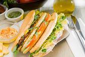 Assorted panini sandwich — Stock Photo