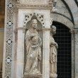Siena - wonderfully decorated Capella di Piazza - Stock Photo