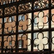 Siena - decorative grating on Piazza  del  Campo - Stock Photo