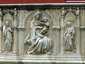 Siena - Panel of the Fonte Gaia — Stock Photo