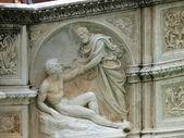 Siena - Panel of the Fonte Gaia — Stock Photo
