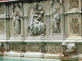 Siena - the Fonte Gaia — Stock Photo